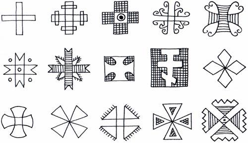 Різновиди хрестів на писанках